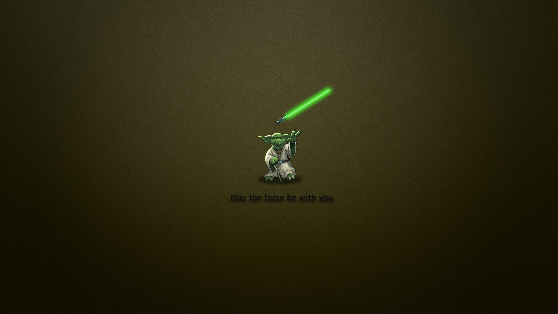 Wallpaper Star Wars Jedi Yoda Minimalism Widescreen 1920x1080 On