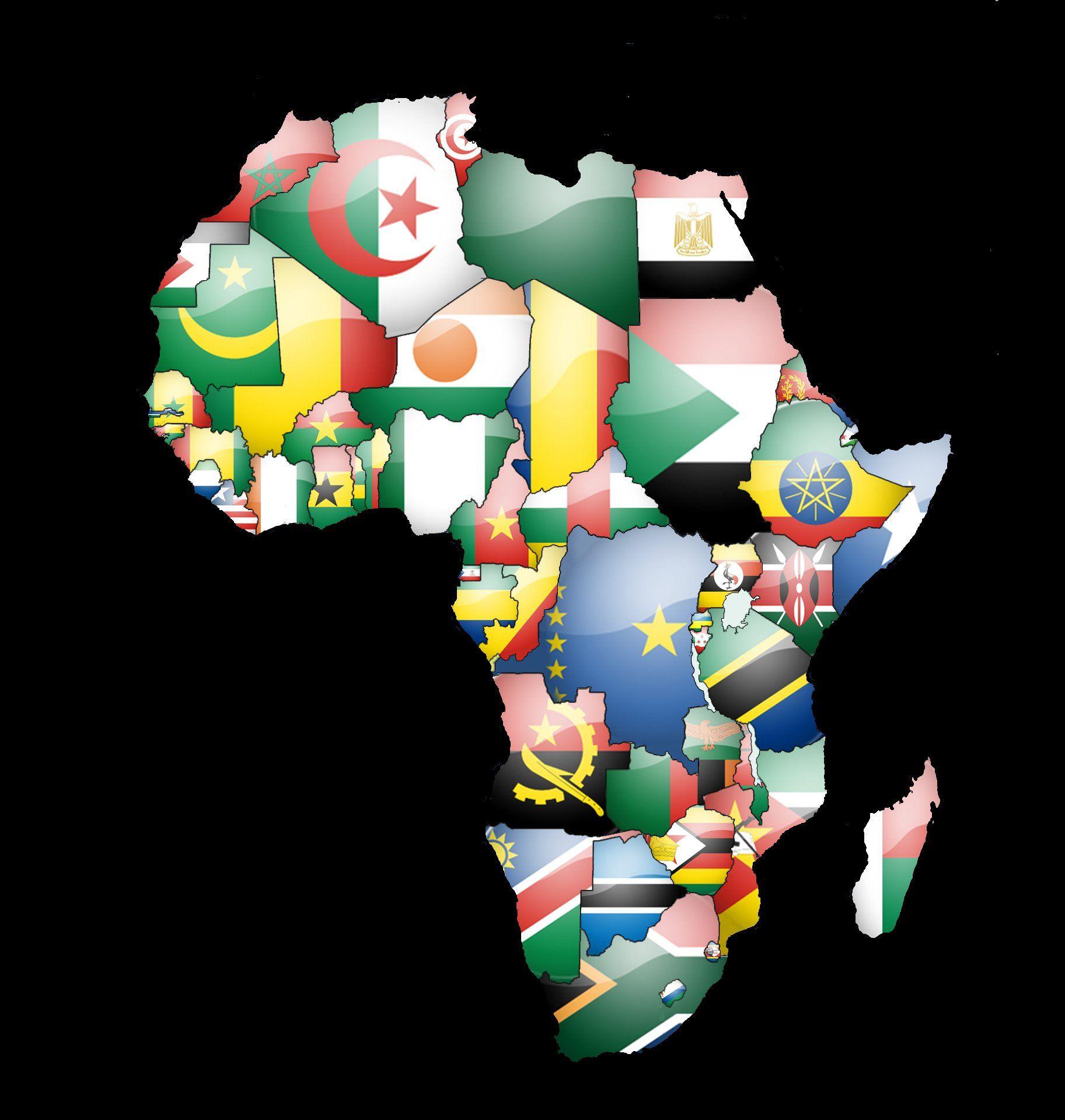 Africa Map Wallpaper 1825x1919