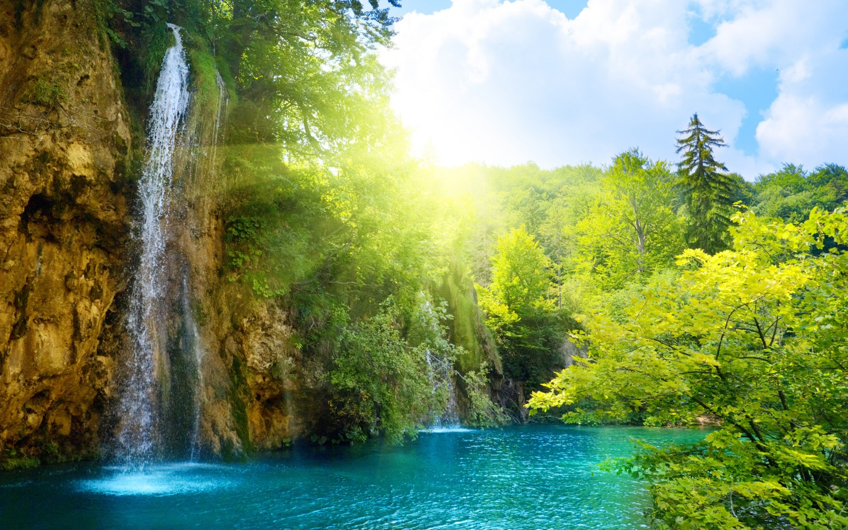 download waterfall live wallpaper which is under the waterfall 1680x1050