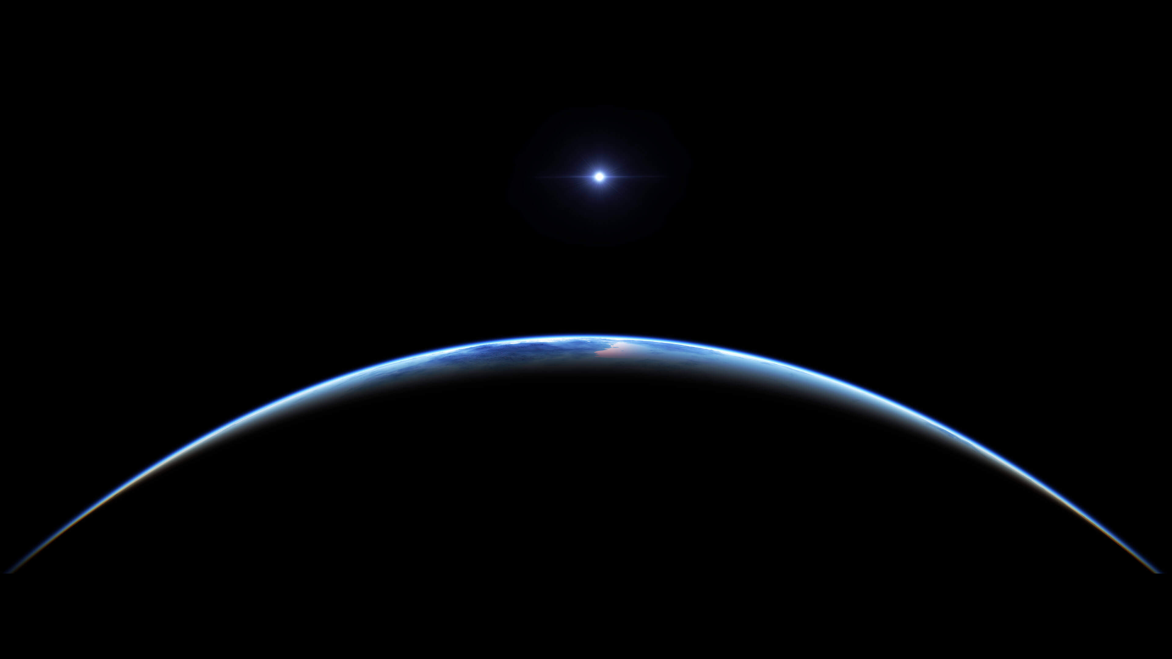Earth at Night view from space 4K wallpaper