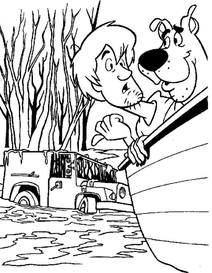 Free Scooby Doo And Shaggy Coloring Games 719x924
