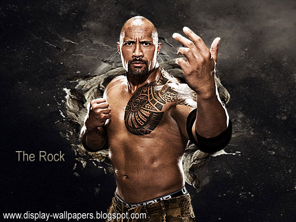 WWE Wrestler and Hollywood Actor Download WWE The Rock HD Wallpapers 1024x768
