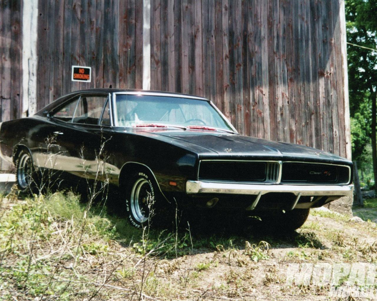 1969 dodge charger rt in a barn wallpaper   85027   HQ Desktop 1280x1024