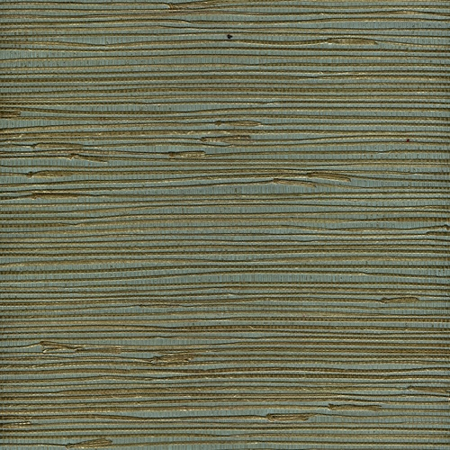 Zoomed Allen Roth Metallic Gold Teal Grass Cloth Unpasted Wallpaper 500x500