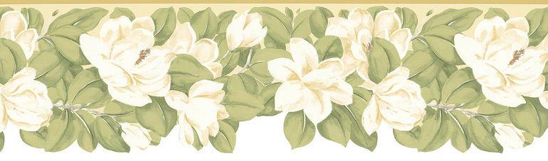 Die Cut Magnolia Flowers Wallpaper Border MP73657DC eBay 770x227