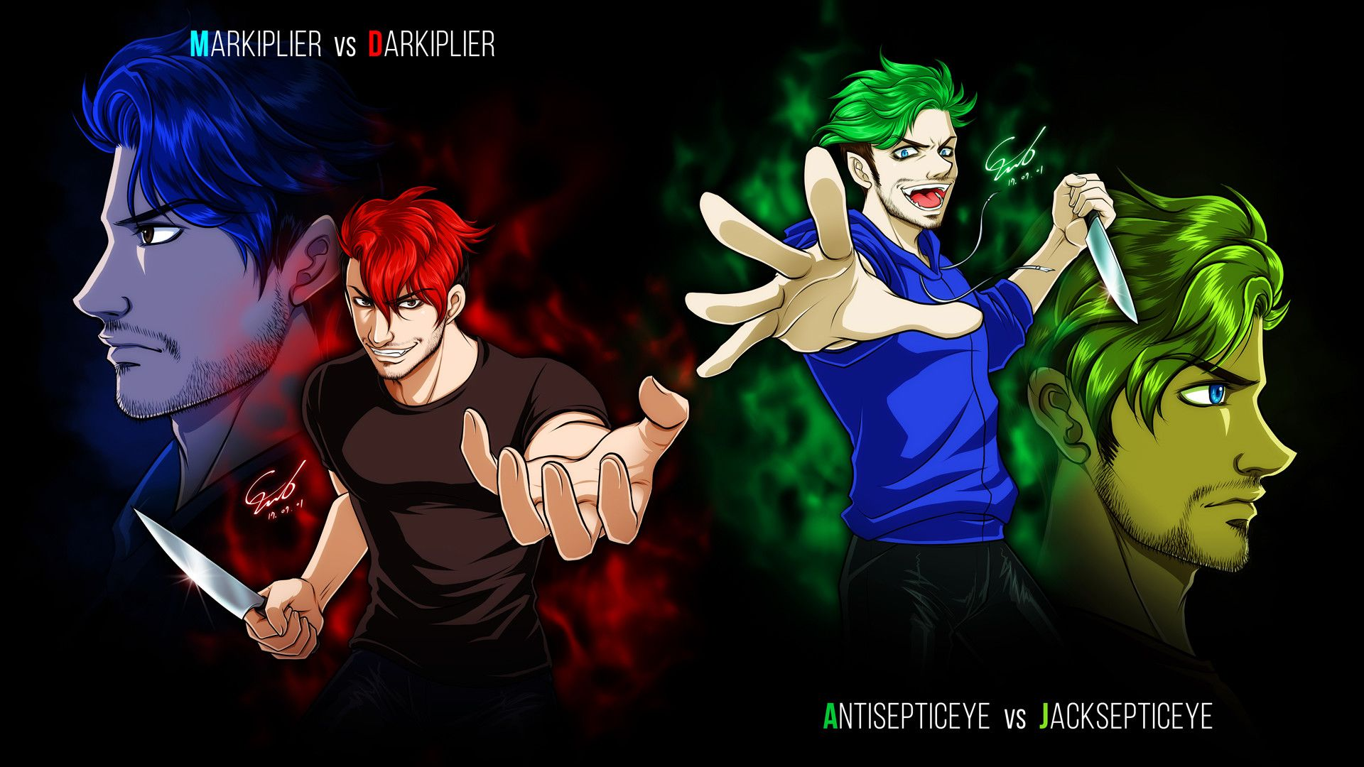 Markiplier and Jacksepticeye Wallpaper 30 Background Pictures 1920x1080