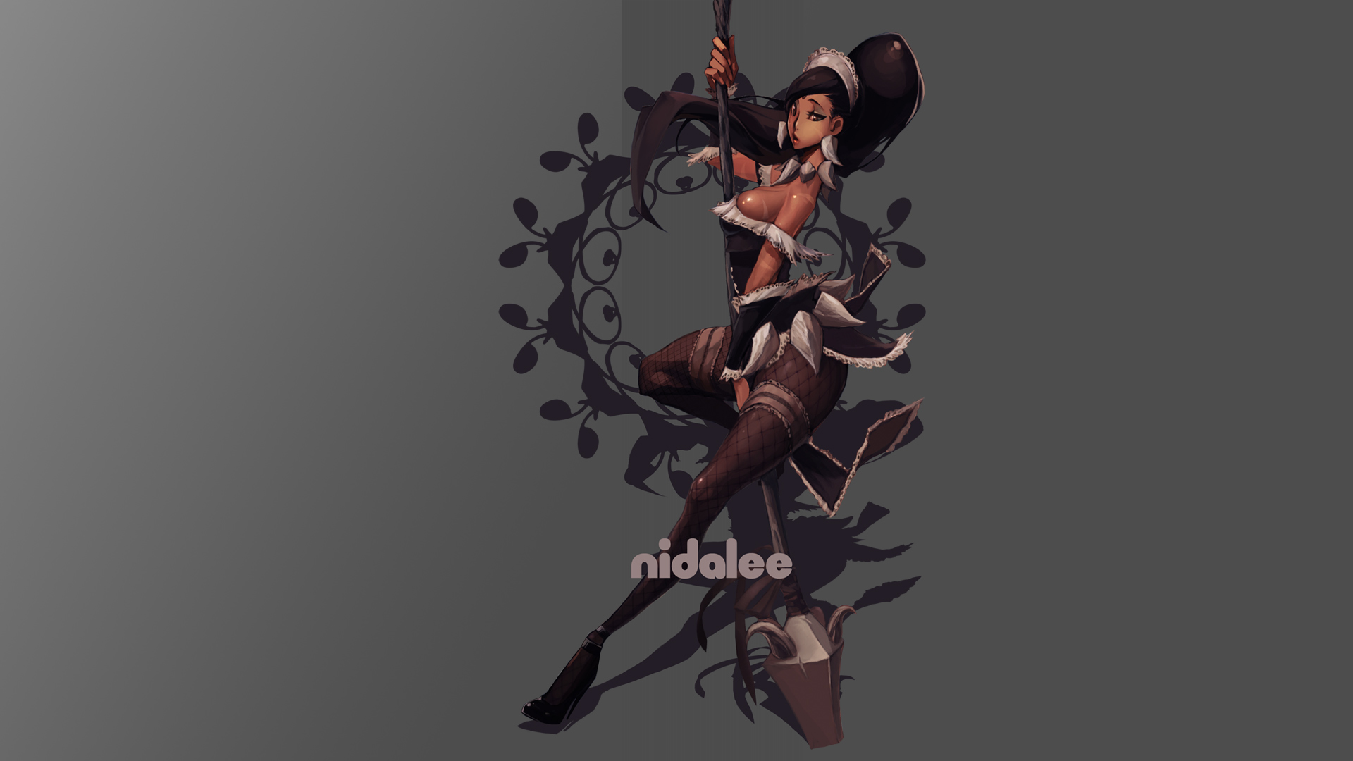 nidalee maid skin splash sexy girl league of legends hd wallpaper lol 1920x1080