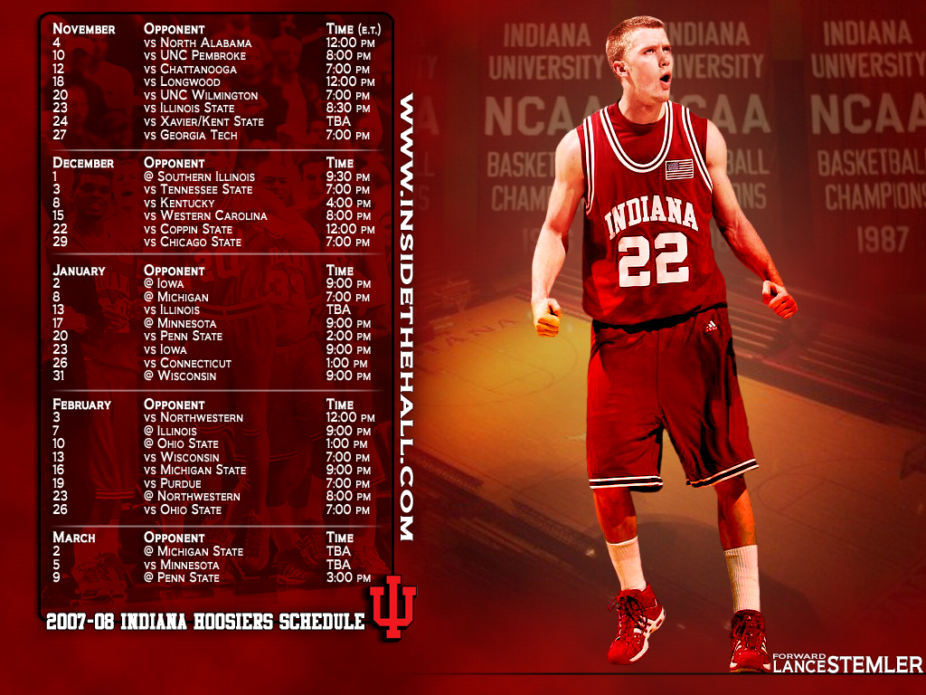 Desktop Wallpaper   Inside the Hall Indiana Hoosiers Basketball 1024x768