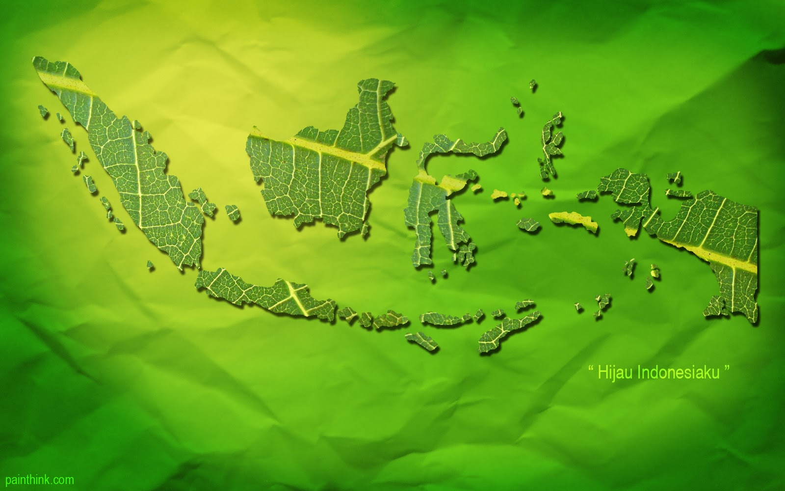 wallpaper peta indonesia daun 1600x1000