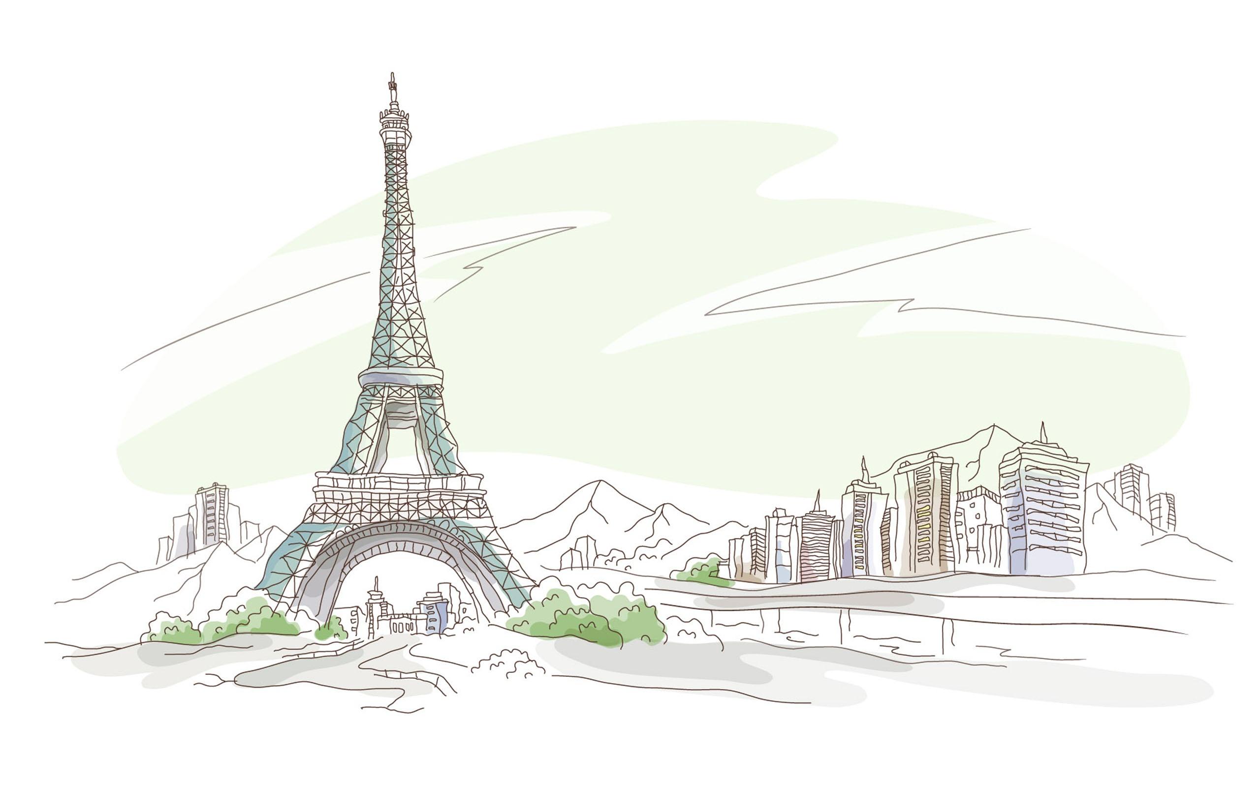 Paris pen and pencil drawing hd wallpapers widescreen 2560x1600 2560x1600