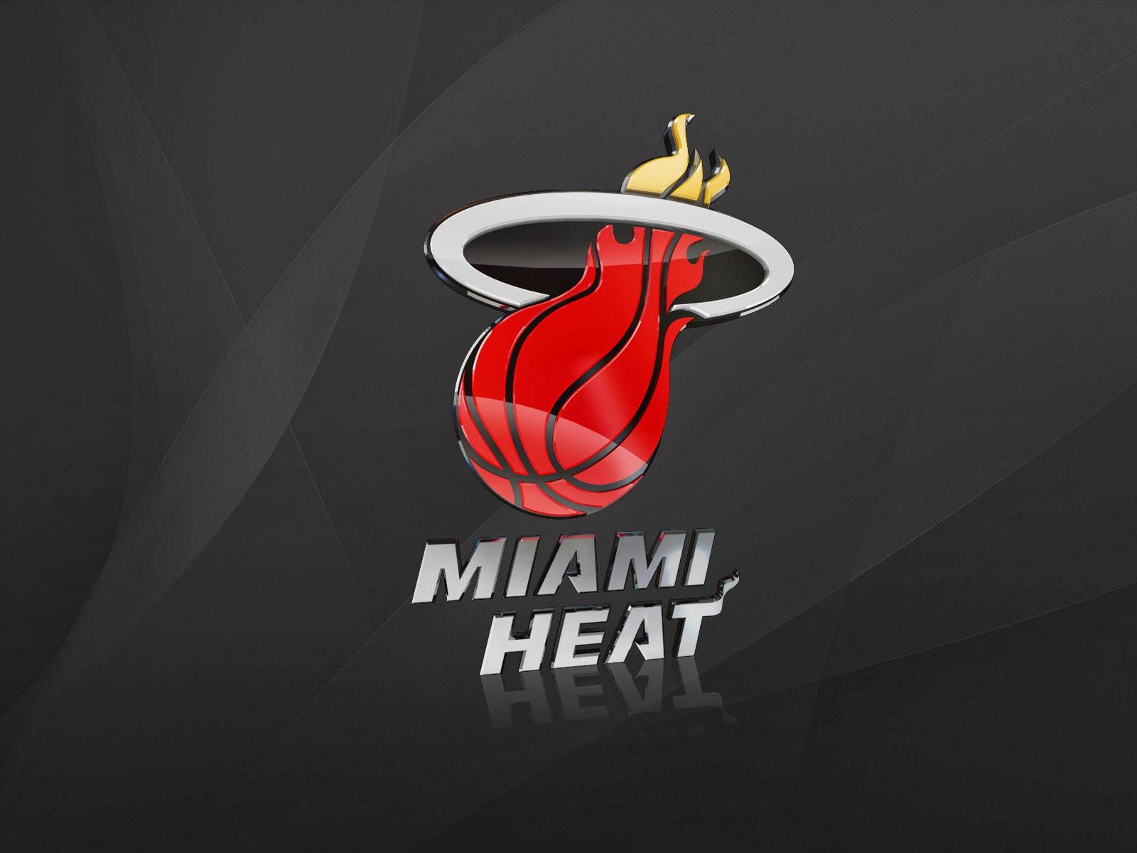Miami Heat 3D Logo 2014 NBA HD Desktop Wallpaper CaT 1600x1200