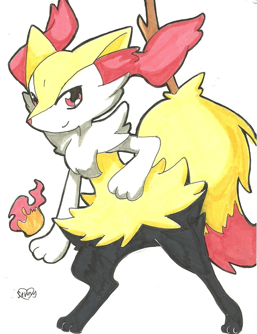 Braixen by senchansart 1024x1331