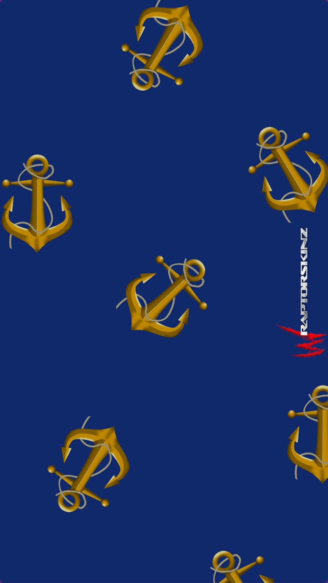 Anchors Away Blue   Decal Style Skin fits Samsung Galaxy S IV S4 1080x1920