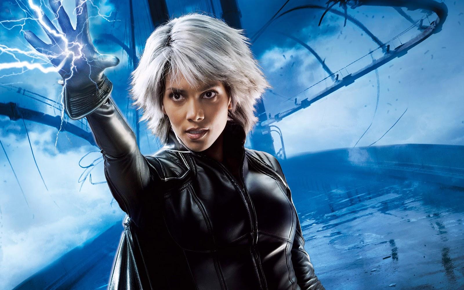 Wallpaper met Halle Berry als superheldin Storm in de film The X Men 1600x1000