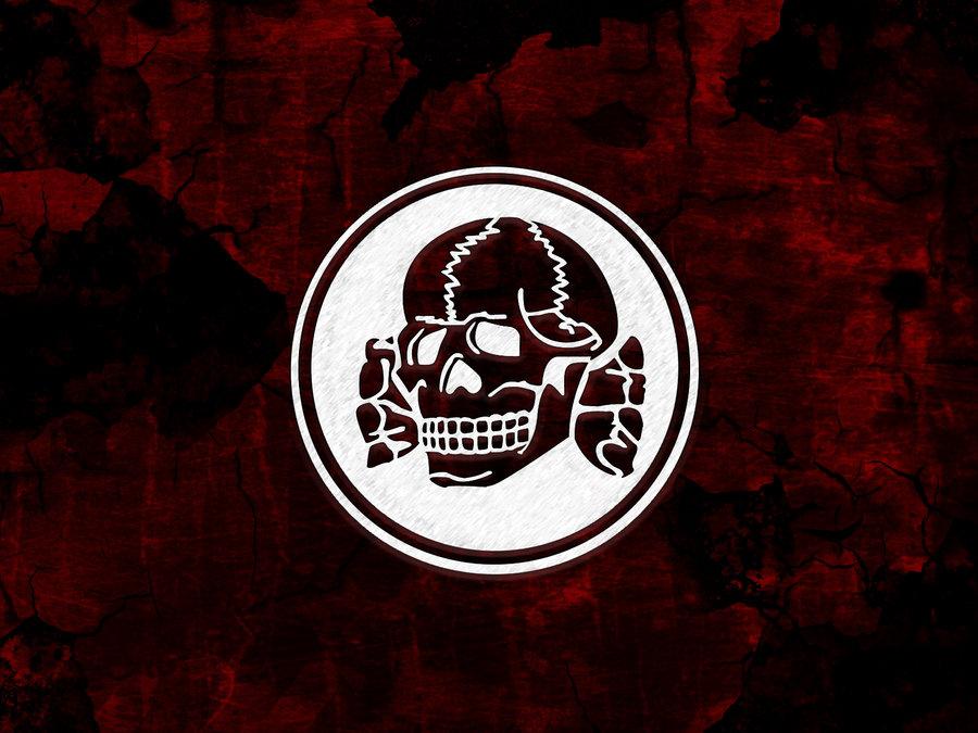 Totenkopf on red Wallpaper by Landstormer 900x675