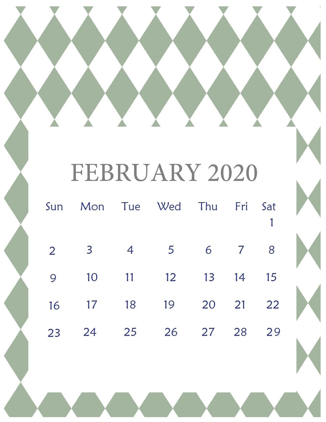 February 2020 Calendar Wallpapers   Top February 2020 1334x1726