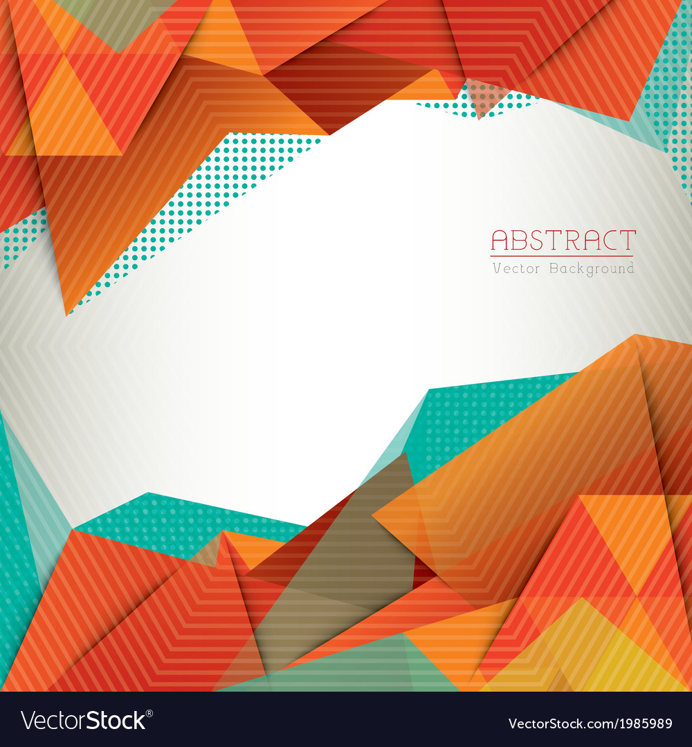 Abstract triangle shape background layout Vector Image 1000x1080