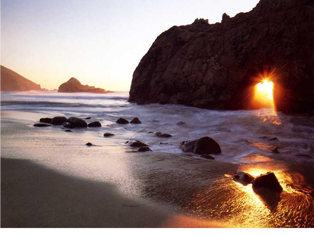 California Beach Sunrise in the Morning Wallpaper Beach Wallpaper 1024x768