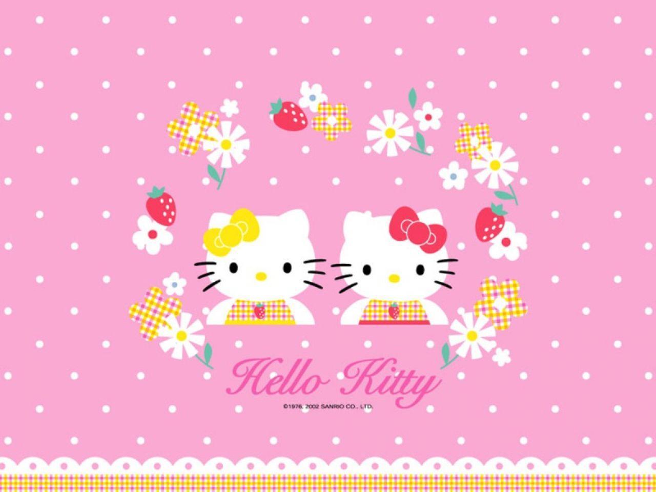 Hello kitty wallpaper for tablet wallpapersafari fondo de pantalla con una imagen de la popular hello kitty voltagebd Image collections