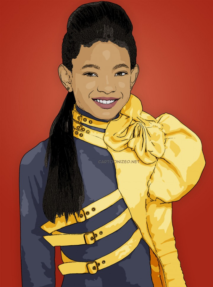 your own Willow Smith cartoon cell phone wallpaper Cartoonized 720x972