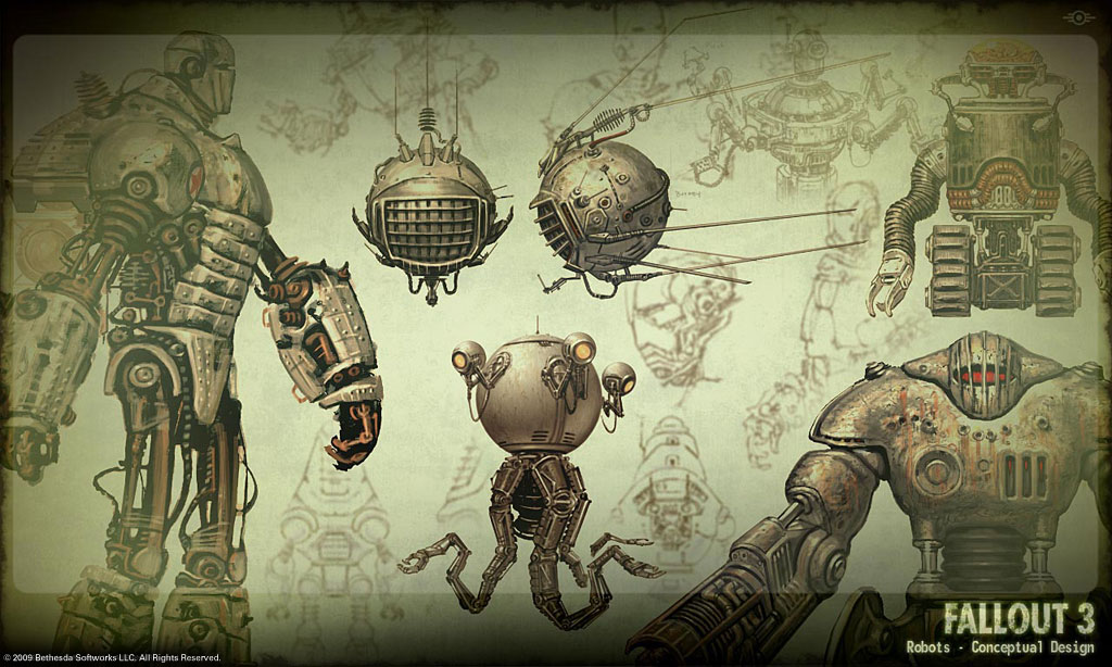 Just a small selection of art that he created just for Fallout 3 The 1024x614