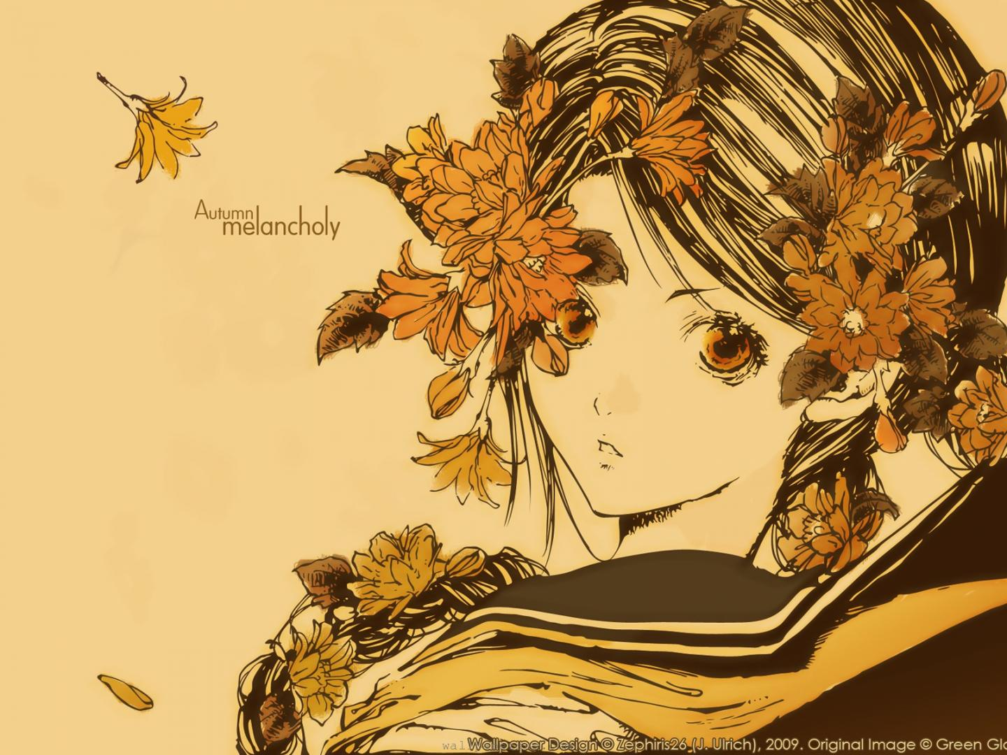 Anime Autumn Melancholy wallpapers55com   Best Wallpapers for PCs 1440x1080