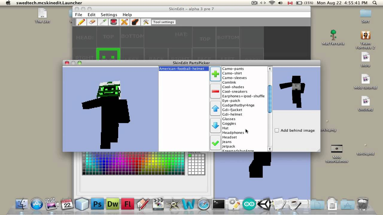 Minecraft Tutorial How To Make Your Own Custom Skin Auto Design 1280x720