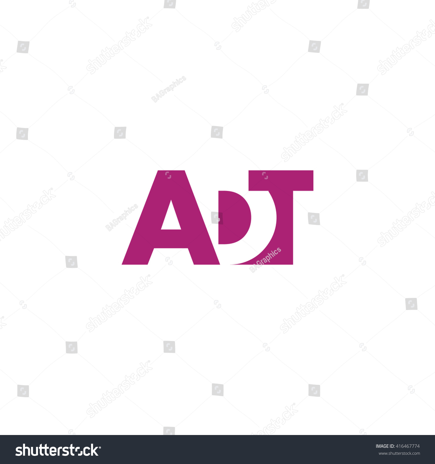 Adt Logo Vector Graphic Branding Letter Stock Vector Royalty 1500x1600