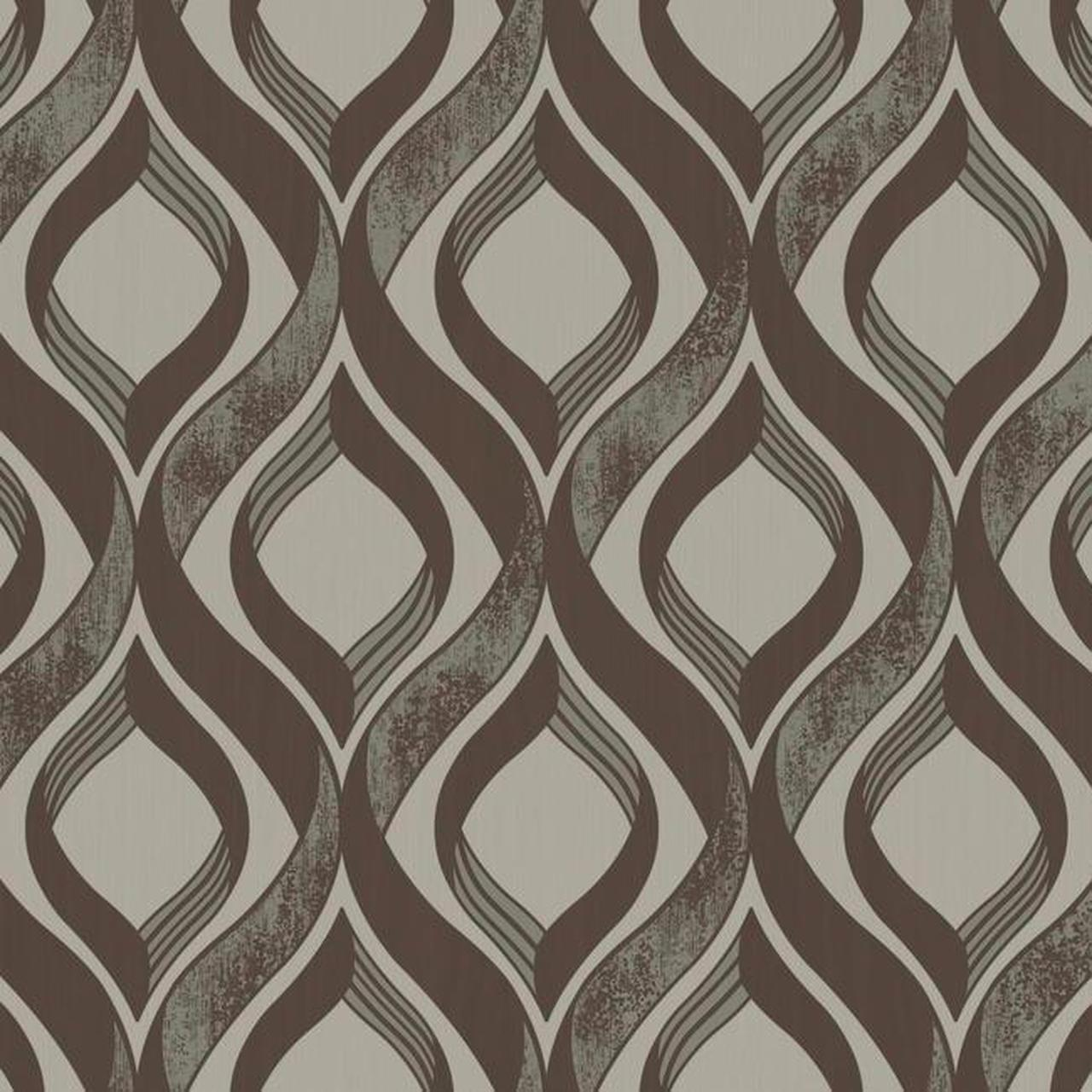 York Wallcoverings MY9205 Medley Arbor Wallpaper Brown Cream 1280x1280