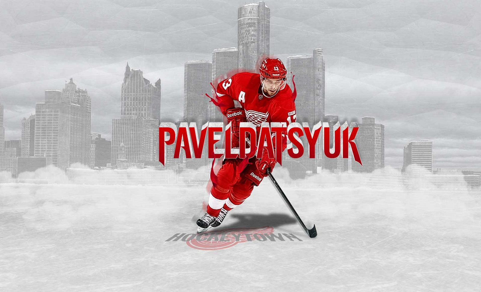 Hockey Pavel Datsyuk Detroit Red Wings wallpaper 1600x972 1600x972
