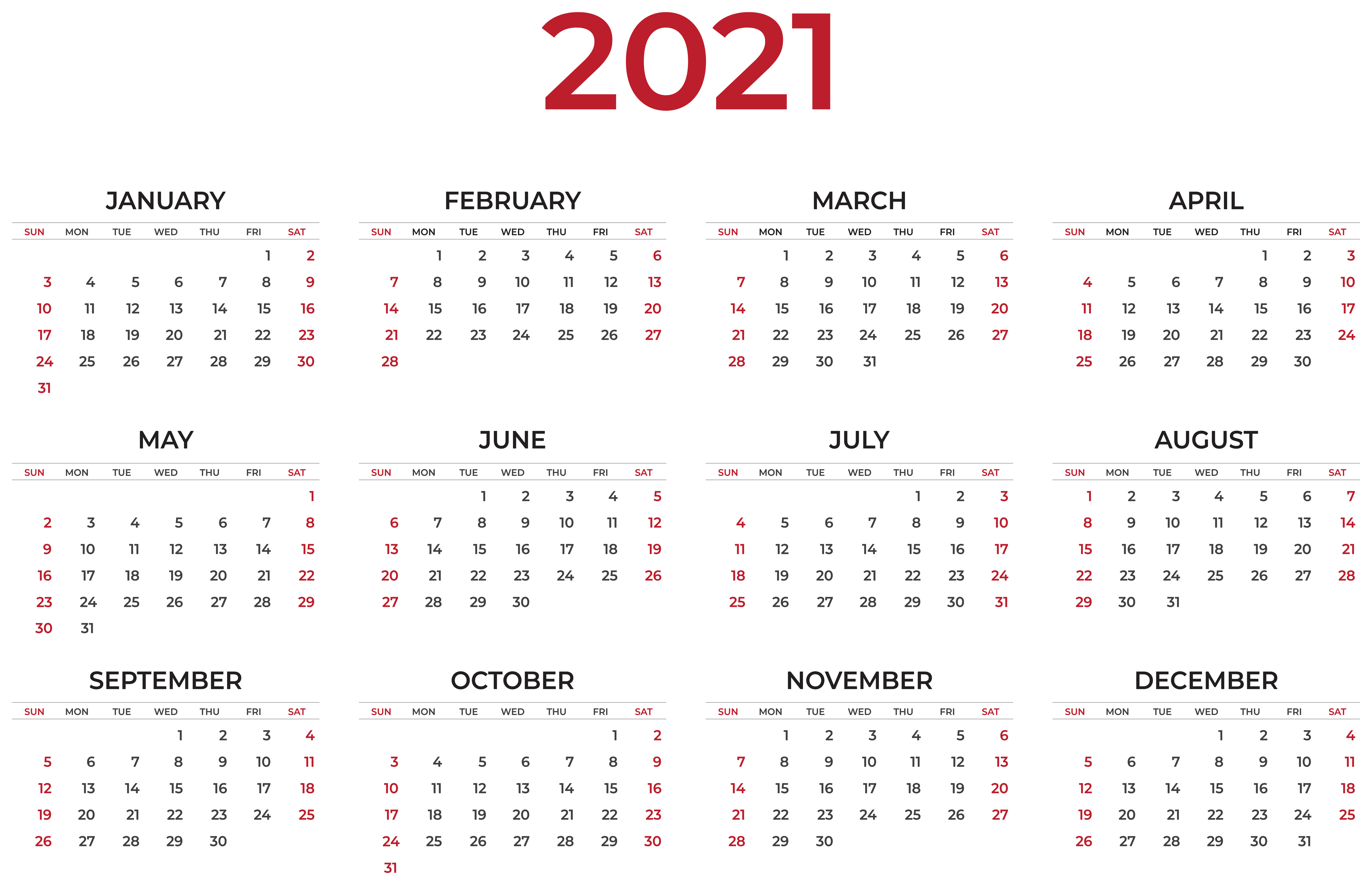 2021 Calendar Wallpapers   Top 2021 Calendar Backgrounds 8000x5159
