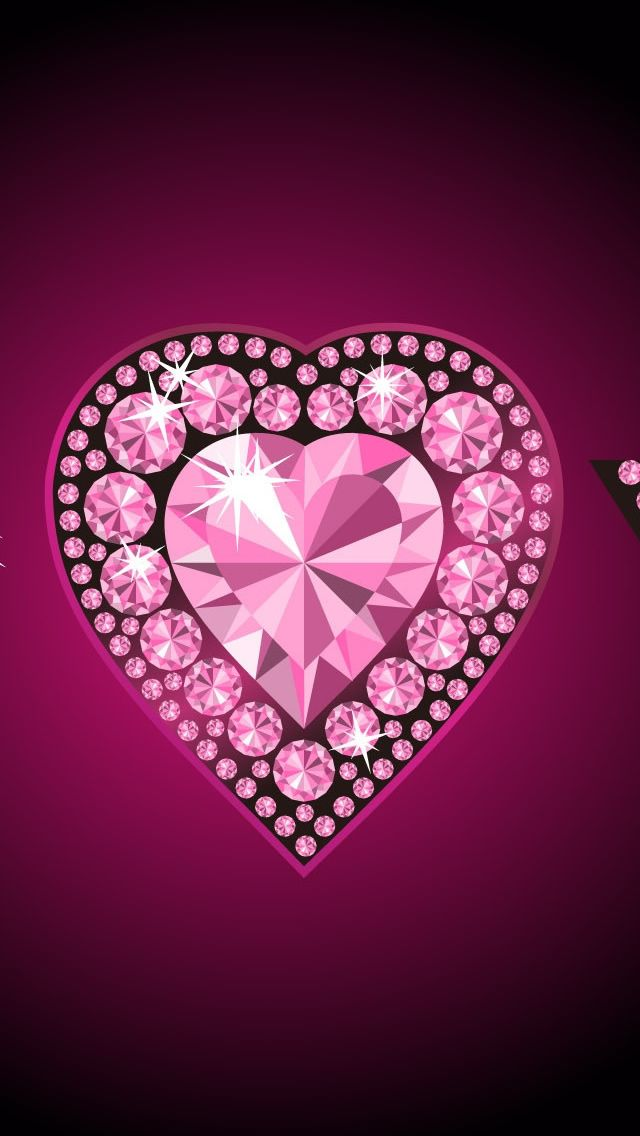 Pink Bling Heart Positively Perfectly Pink Pinterest 640x1136