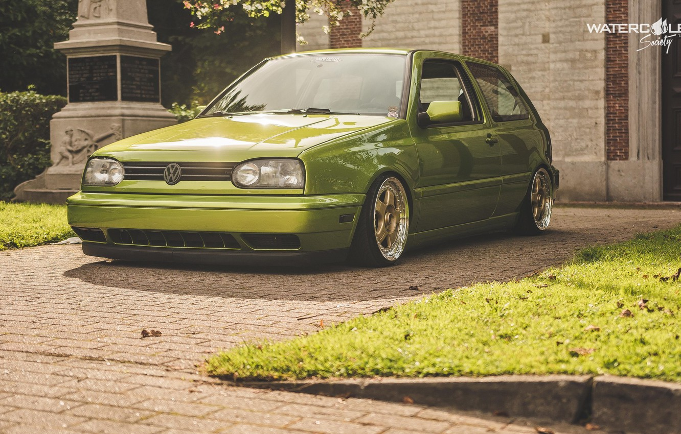 Wallpaper volkswagen Golf golf tuning germany low r32 1332x850