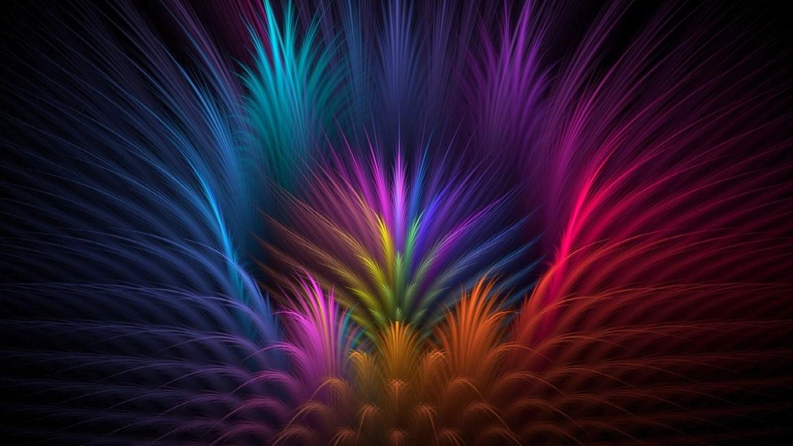 Feathers Flower Petals Rays Line Volume Symmetry   Stock 1156x650