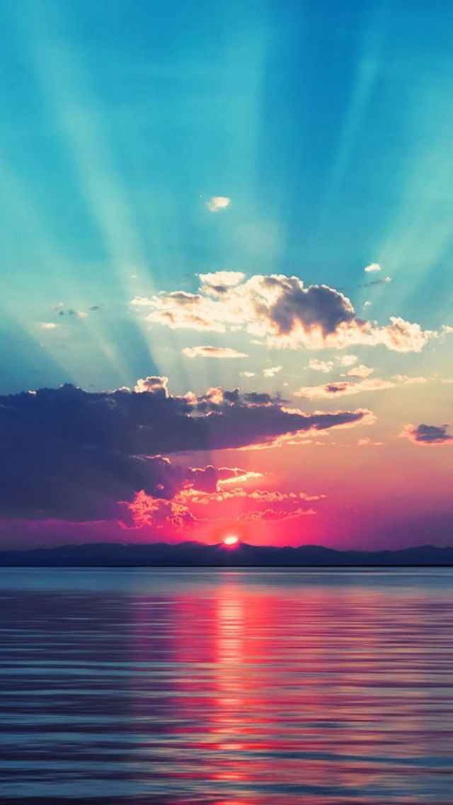 Sunset Ocean Mobile Wallpapers Sunset wallpaper Ocean sunset 640x1136