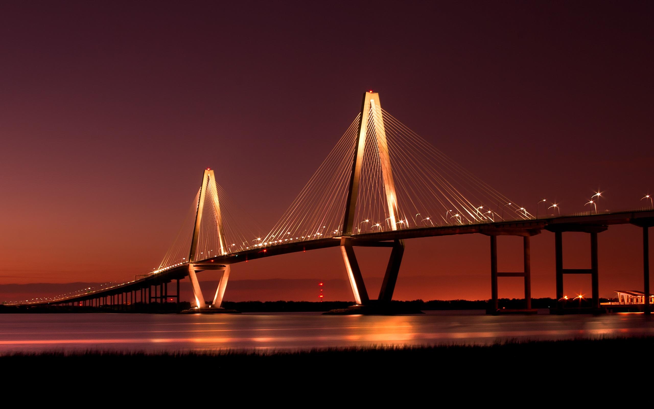 Beautiful Bridges wallpaper   Cooper River Bridge Wallpapers   HD 2560x1600