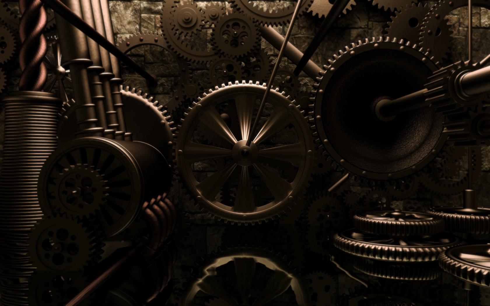 Steampunk mechanical gears f wallpaper 1680x1050 62239 1680x1050
