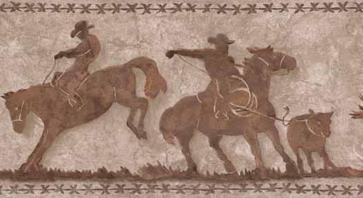 Cowboy Cats Wallpaper Border