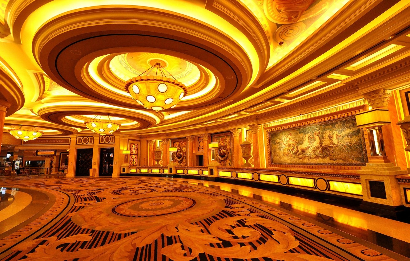 Wallpaper Las Vegas chandelier USA hall casino images for 1332x850