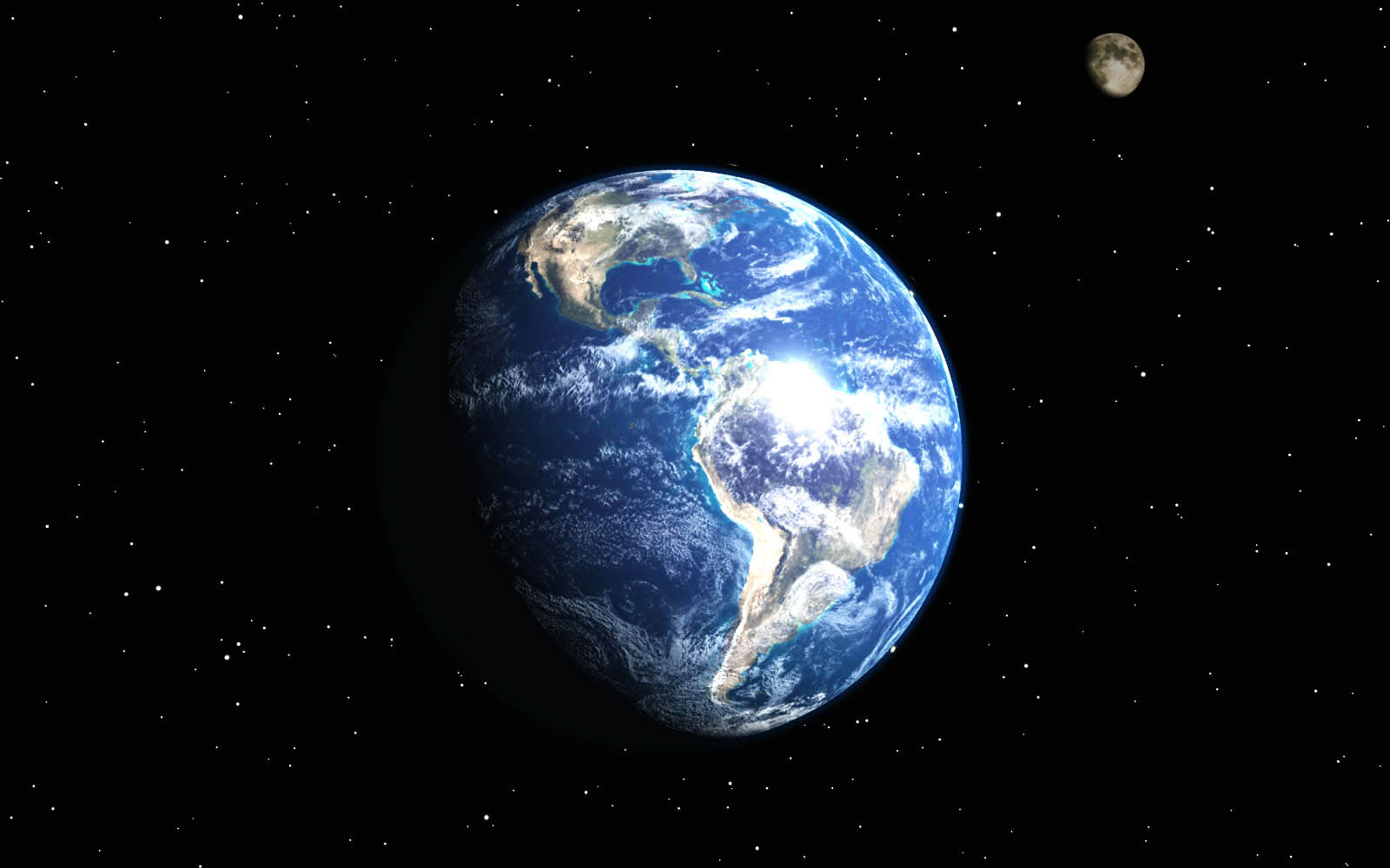 Earth And Moon Wallpapers EarthAnd Moon Desktop Wallpapers Earth 1600x1000