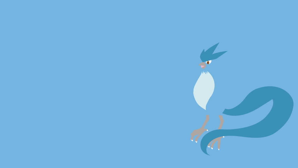 Articuno Minimalist Wallpaper by BrulesCorrupted 1024x576