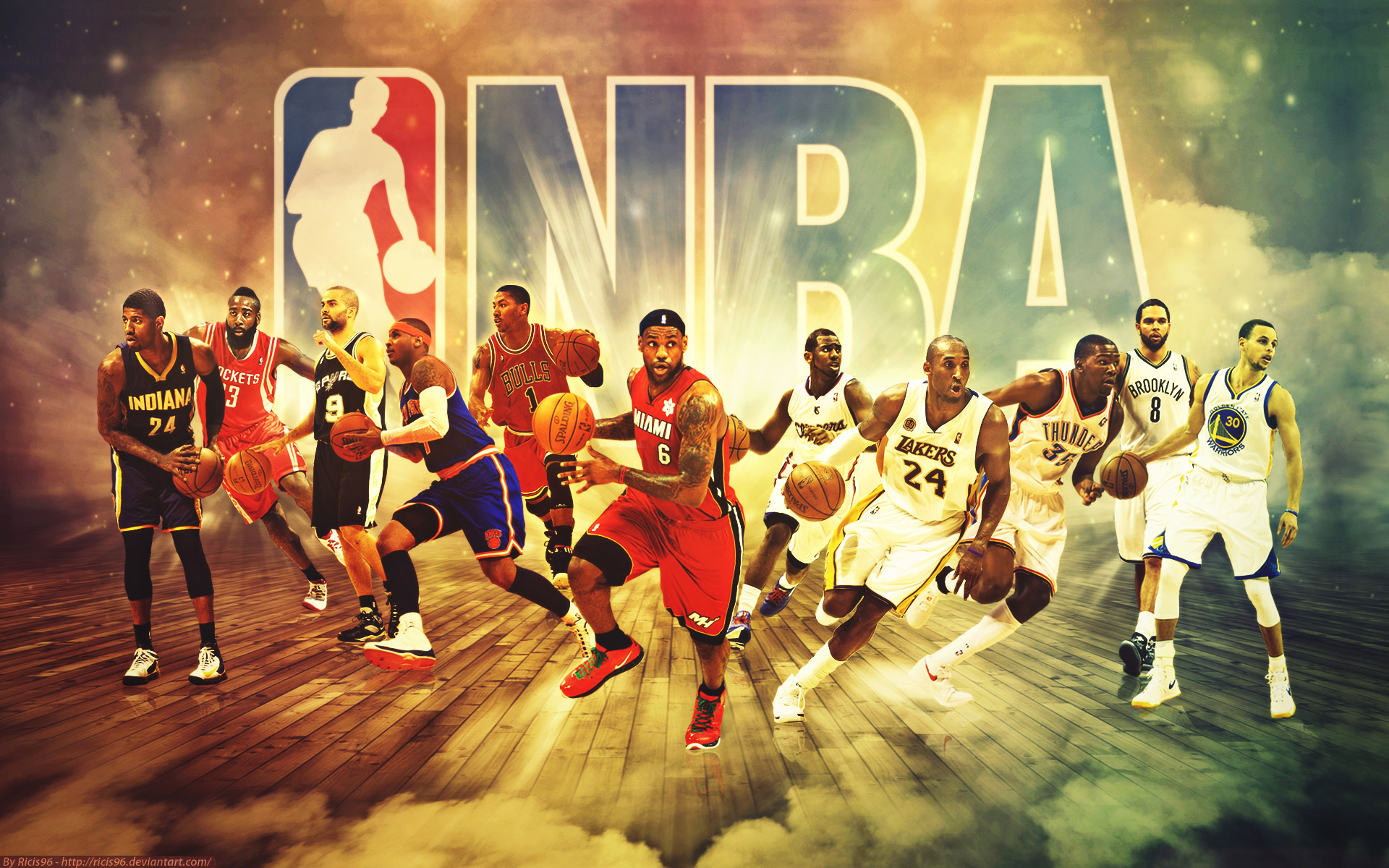 NBA Stars   NBA Team Wallpaper 1920x1200