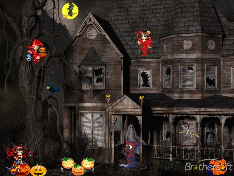 Halloween animated with sound wallpapers wallpapersafari - Scary halloween screensavers animated ...