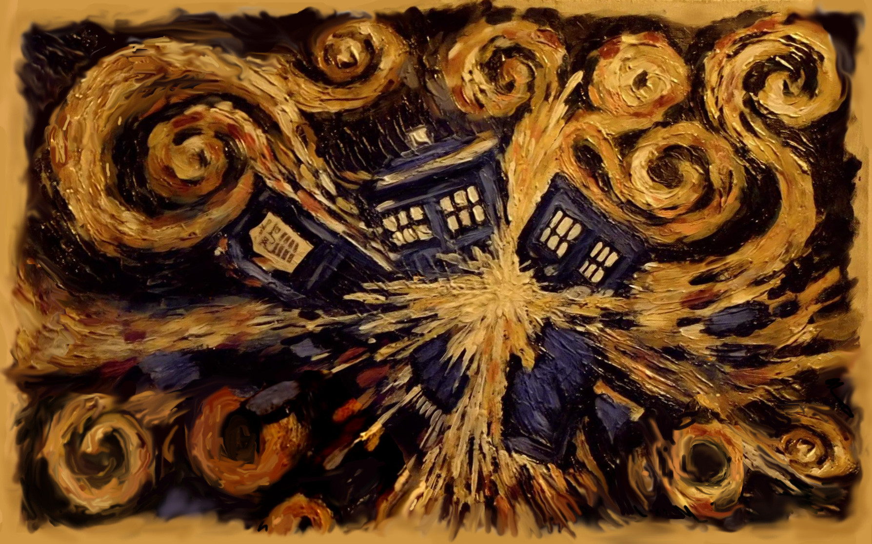 Doctor Who Tardis Wallpaper Van Gogh Images Pictures   Becuo 1788x1116