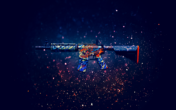 m4a4 dragon king awp dragon lore glock water elemental m4a4 howl p2000 600x375