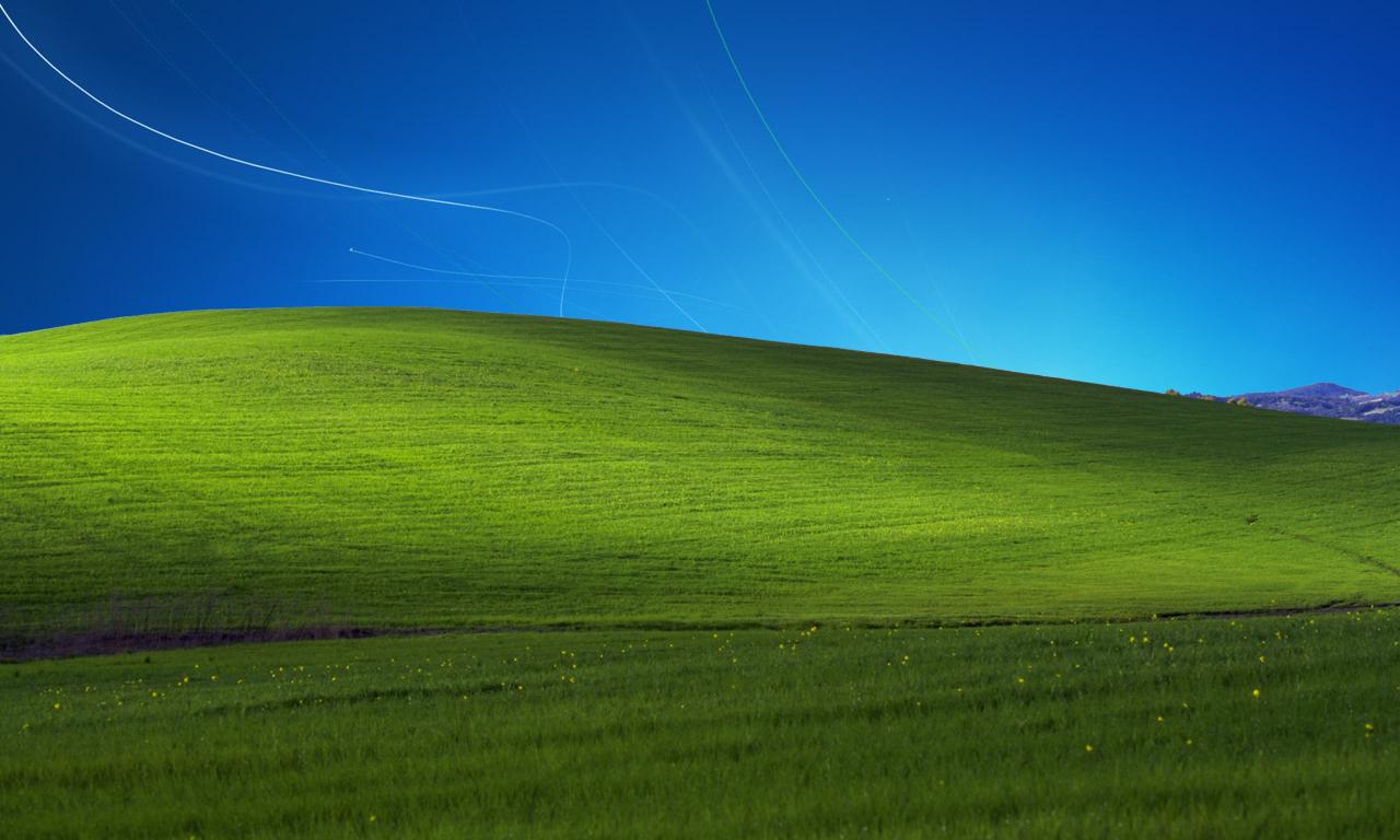 Windows xp bliss wallpaper 1366x768