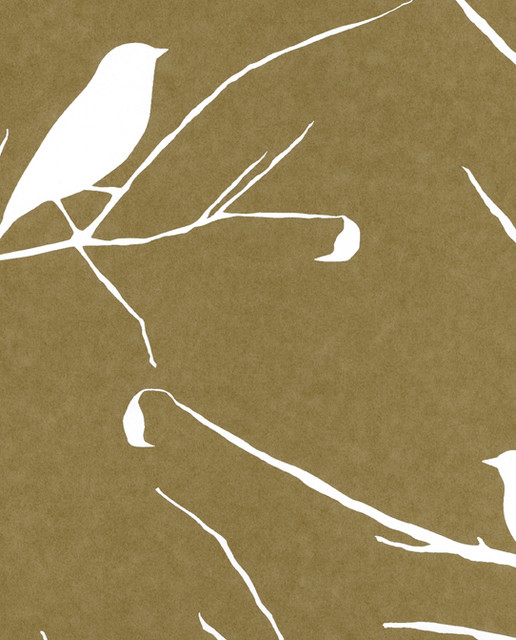 Cavern Home Blackbird Wallpaper Snow modern wallpaper 516x640