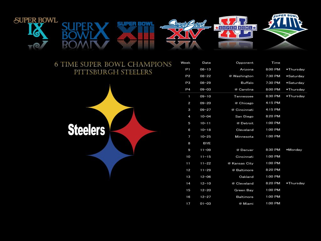 This is a graphic of Pittsburgh Steelers Printable Schedule in celebration