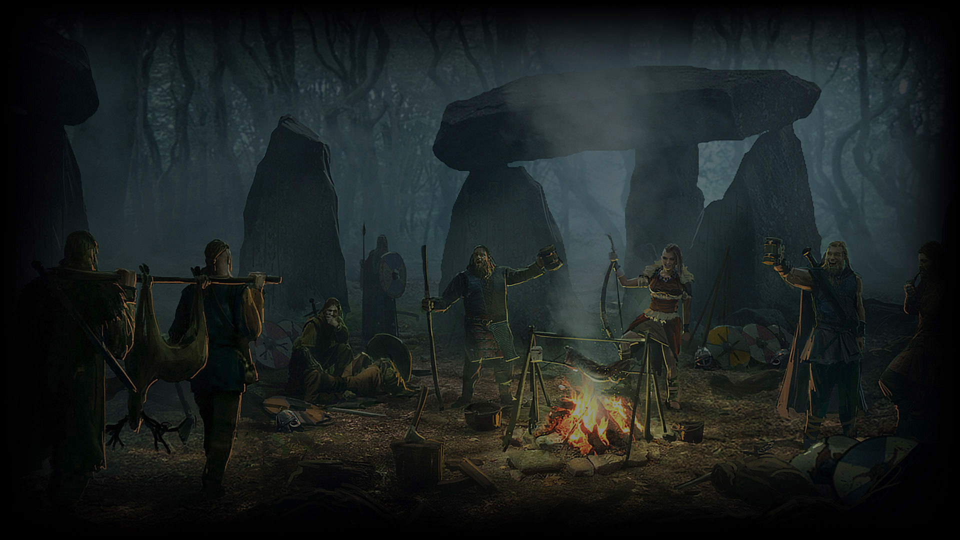 Viking Camp Wallpaper from Expeditions Viking   gamepressurecom 1920x1080