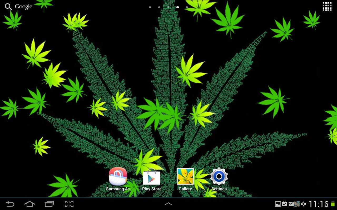 Weed Live Wallpaper screenshot 1280x800